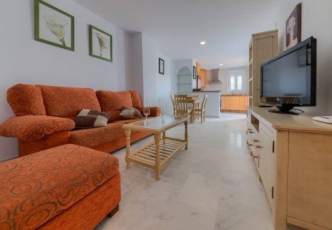 Salón de Apartamento Bécquer – Villas Flamenco Rentals (Conil)
