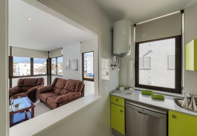 Cocina de Apartamento Mercurio 1 – Villas Flamenco Rentals (Conil)