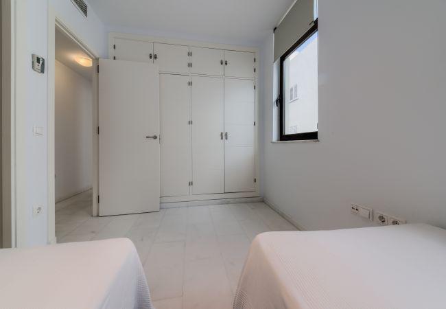 Dormitorio de Apartamento Mercurio 1 – Villas Flamenco Rentals (Conil)