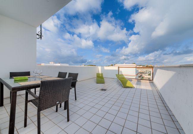 Terraza de Apartamento Mercurio 2 – Villas Flamenco Rentals (Conil)