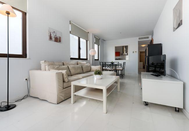 Salón de Apartamento Mercurio 2 – Villas Flamenco Rentals (Conil)