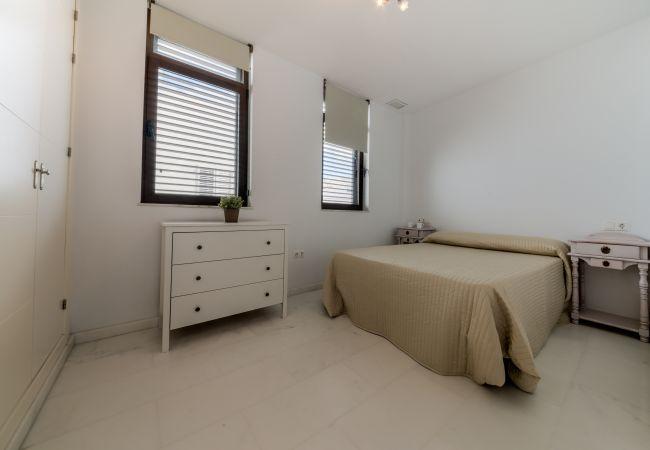 Dormitorio de Apartamento Mercurio 2 – Villas Flamenco Rentals (Conil)