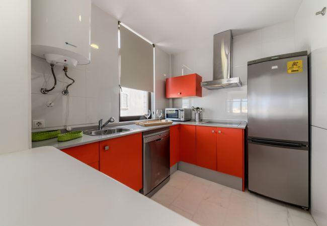 Cocina de Apartamento Mercurio 2 – Villas Flamenco Rentals (Conil)