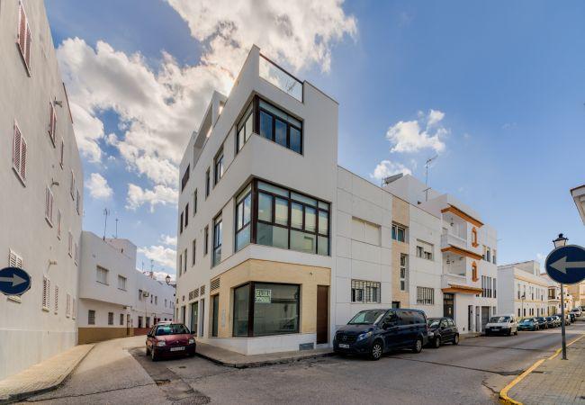 Fachada de Apartamento Mercurio 2 – Villas Flamenco Rentals (Conil)